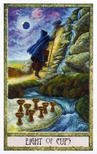 Druid Craft Tarot - 8 of Cups