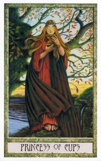 Druid Craft Tarot - Princess of Cups