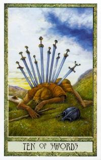 Druid Craft Tarot 10 of Swords