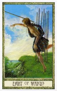 Druid Craft Tarot 8 of Wands