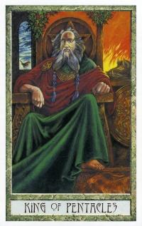 Druid Craft Tarot - King of Pentacles